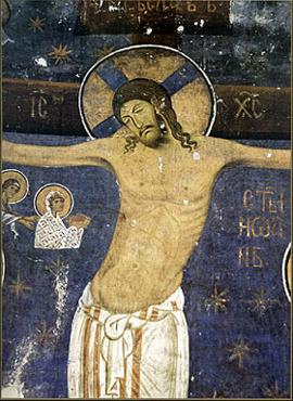 Распеће Христово, Фреска из цркве Св. Богородице Добротворке, 1208/9. године