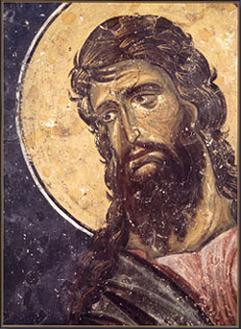 Свети Јован Претеча, Детаљ фреске из Деизиса, XIII век